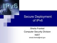 Secure Deployment of IPv6