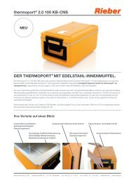 thermoport® 2.0 100 KB-Cns - Rieber GmbH & Co. KG