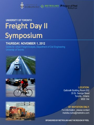 Freight day ii symposium - Civil Engineering - University of Toronto
