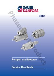 SIRO Pumpen und Motoren - Sauer-Danfoss