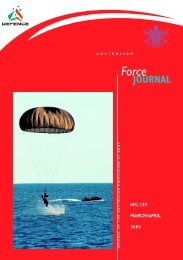 ISSUE 159 : Mar/Apr - 2003 - Australian Defence Force Journal