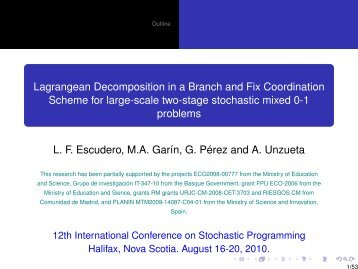 - Lagrangean Decomposition in a Branch and Fix Coordination ...