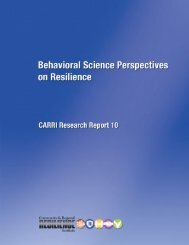 Behavioral Science Perspectives - Community & Regional ...