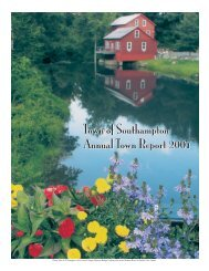to view the Report (1MB PDF format) - Southampton, Massachusetts