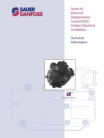 Series 42 Electrical Displacement Control (EDC ... - Sauer-Danfoss