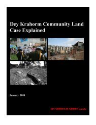 Report: Dey Krahorm Community Land Case Explained - Licadho