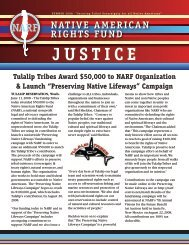 Summer - Native American Rights Fund