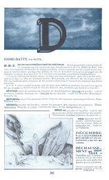 DAME-BATTE Voir BATTE. DDT DÉCEMBRE DÉCHAUSSE-. MENT ...