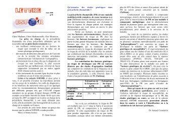 lettre n°5 septembre 2008 - La cohorte ESPOIR