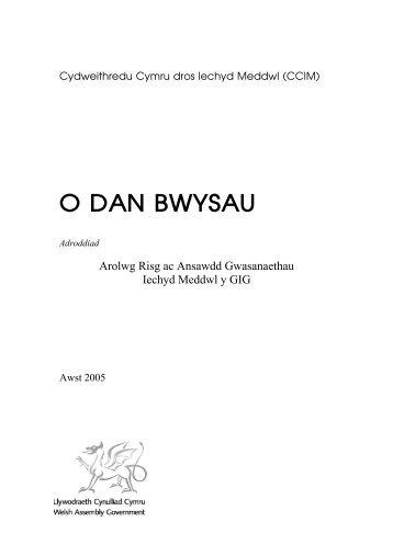O DAN BWYSAU - Wales Mental Health in Primary Care Network ...