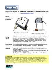 Omogeneizzatore ad ultrasuoni compatto da laboratorio UP200S