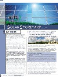 olar corecard - Solar Scorecard