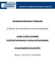 Europäische Ethnologie / Volkskunde im Rahmen der ...