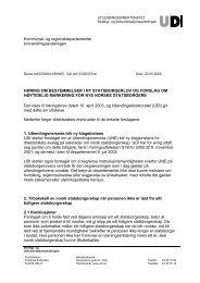 NORWEGIAN DIRECTORATE OF IMMIGRATION - UDI
