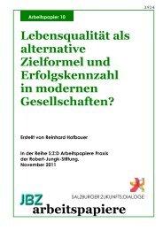 ENDTEXT JBZ AP 10 Hofbauer - JBZ-Arbeitspapiere