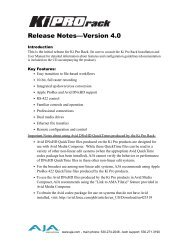 Release Notes—Version 4.0 - Aja