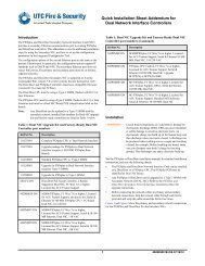 Quick Installation Sheet Addendum for Secondary Dual Network