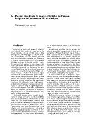 9. Metodi rapidi per le analisi chimiche dell'acqua ... - Clamer Informa