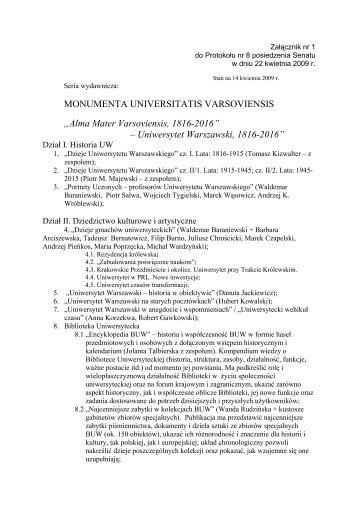 Alma Mater Varsoviensis - Uniwersytet Warszawski