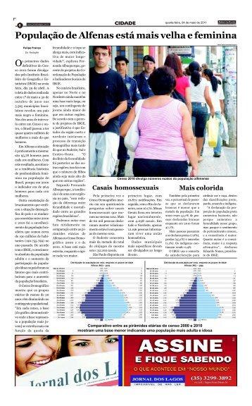 População de Alfenas está mais velha e feminina - Jornal dos Lagos