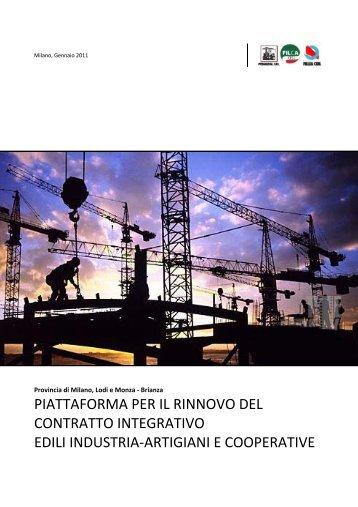 MILANO piattaforma Ance Artigiani e Coop - Fillea Cgil