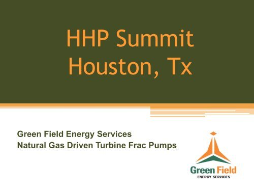 TURBINE FRAC PUMP - ASSEMBLY - HHP