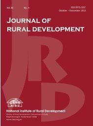 Issue for October - December 2011 - National Institute of Rural ...