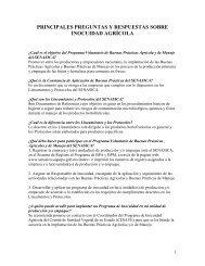 PRINCIPALES PREGUNTAS Y RESPUESTAS SOBRE INOCUIDAD ...