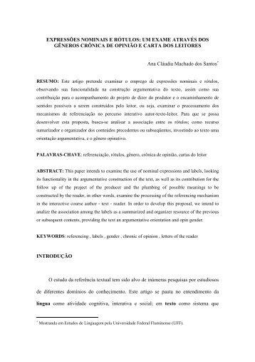 um exame através dos gêneros crônica de opinião ... - revista Icarahy