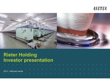 Rieter Investor Presentation September 2012 en 40..., pages