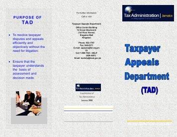 TAD Brochure 1 08 - Tax Administration Jamaica