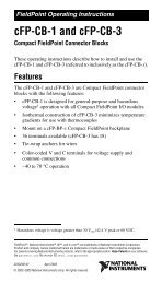 cFP-CB-1 and cFP-CB-3 Operating Instructions - National Instruments