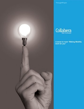 """License to roam """"Making Mobility work for you ... - Collabera"""