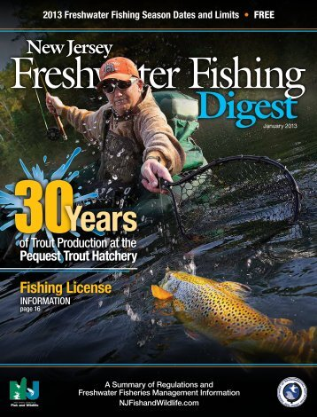 Complete 2013 Freshwater Fishing DIGEST - State of New Jersey