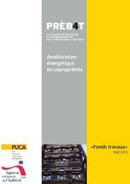 Amélioration énergétique en copropriétés «Fonds travaux»