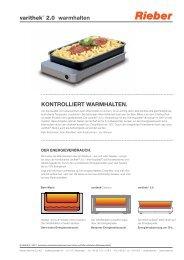 warmhalten KONTROLLIERT WARMHALTEN. - Rieber GmbH & Co ...