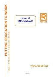 Hva er et HMS-datablad? - Reduce