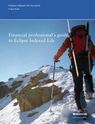 Financial professional's guide to Eclipse Indexed Life - BSI / Home