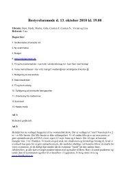 Bestyrelsesmøde d. 13. oktober 2010 kl. 19.00