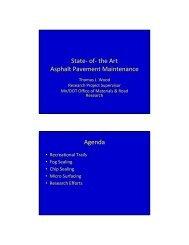State- of- the Art Asphalt Pavement Maintenance Agenda