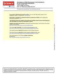 DOI: 10.1126/science.288.5466.640 , 640 (2000); 288 Science et al ...