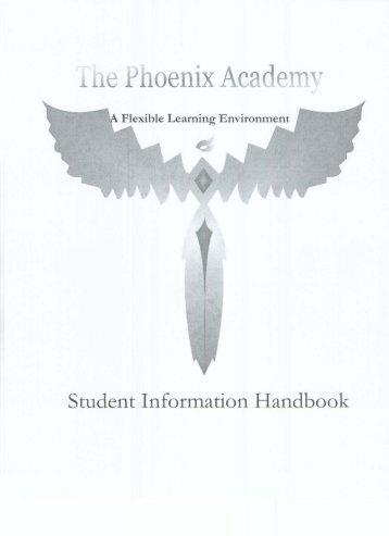 Phoenix Handbook - Phoenix Academy - Rock Hill School District