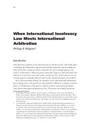 When International Insolvency Law Meets International Arbitration