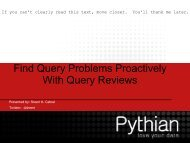 Find Query Problems Proactively With Query ... - Cdn.oreilly.com