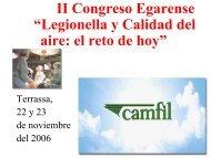 """II Congreso Egarense """"Legionella y Calidad del aire: el ... - CRESCA"""