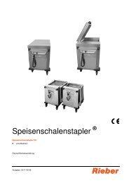Speisenschalenstapler - Rieber GmbH & Co. KG