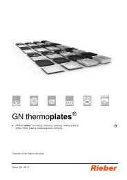 GN thermoplates - Rieber GmbH & Co. KG