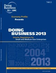 ing Business 2013 - Rwanda - TradeMark Southern Africa