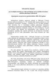 Informatīvais ziņojums par stratēģisko ietekmes uz ... - Vides ministrija