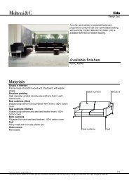 Materials Available finishes - Design Lounge by Hinke